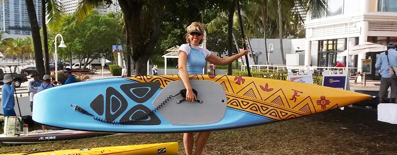 Seagull Custom Race SUP Board Cristina Boeri 1st place in the 3 mile course