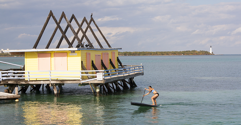 Stiltsville is one of those amazing places to paddle the Indigo Gran Sport Paddleboard