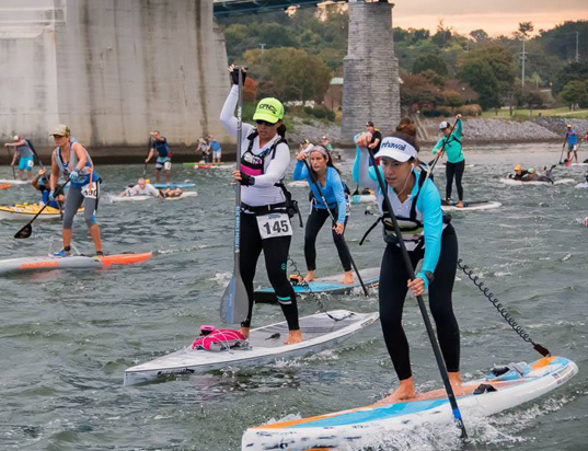 Chattajack Winner 2015 Lizi Ruiz on Indigo Barracuda Touring & Race Standup Paddleboard