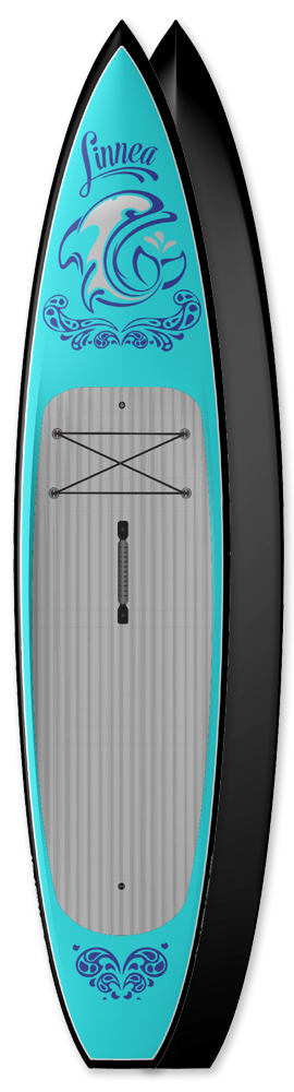Touring Paddleboard Blue Marlin carbon innegra custom made USA