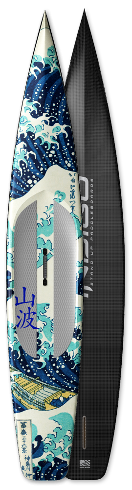 Carbon Innegra Construction with full graphic print by boardlam, custom SUP board made in USA