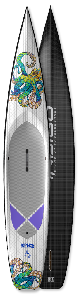 Race Paddleboard -Indigo Seagull Paddleboard - Custom SUP board design by Indigo-SUP made in the USA