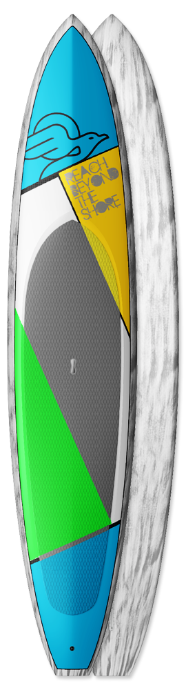 Custom made SUP board Tiger downwind sup boards
