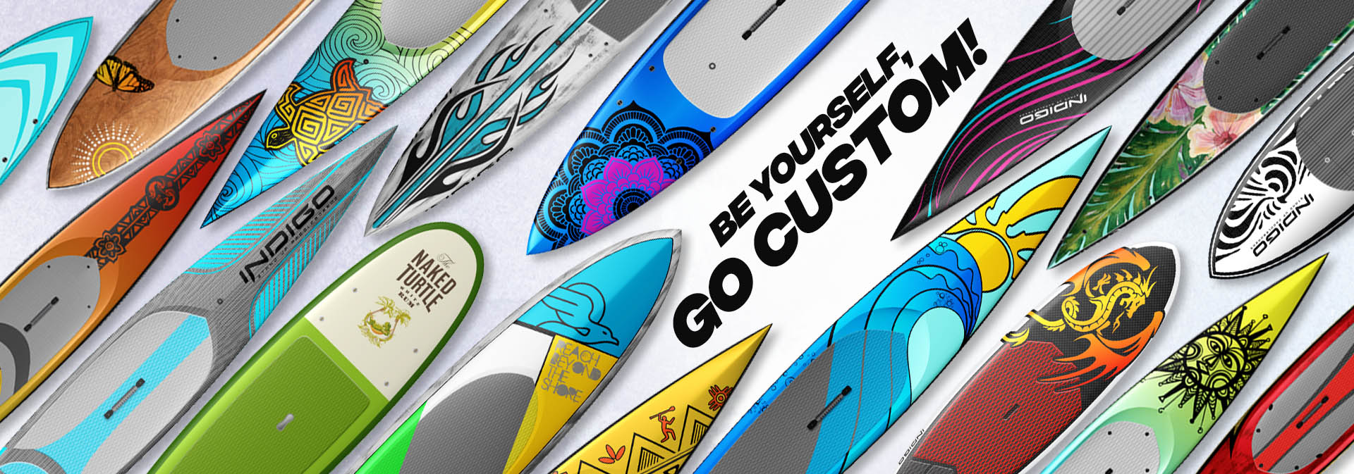 Custom made paddleboard SUP all made in the USA
