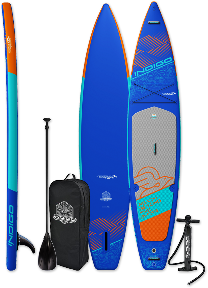 iSUP Seagull Air - race inflatable paddle board form INDIGO SUP