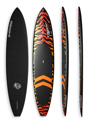 Tiger Pddle Surf Paddleboard Indigo Paddle Boards handcrafted custom made in the USA